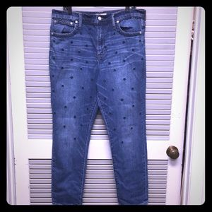 Decorated jeans
